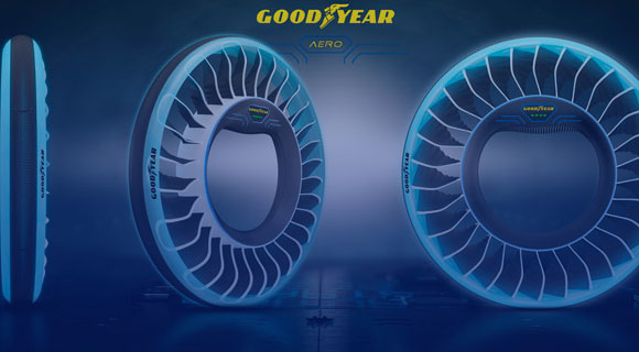 Goodyear AERO is concept of tires for autonomous and flying cars